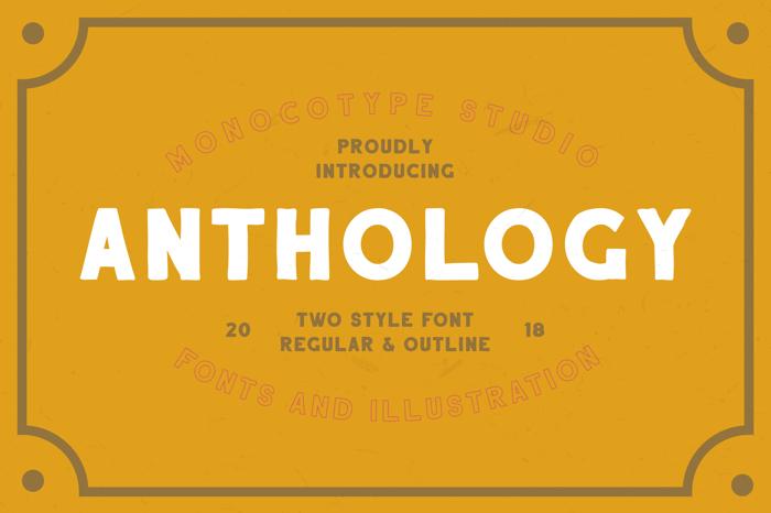Anthology Font poster