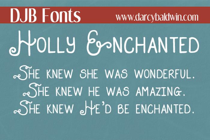 DJB HOLLY ENCHANTED Font poster