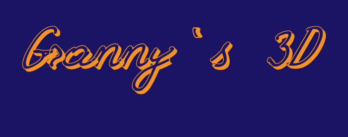 Grannys 3D Font poster