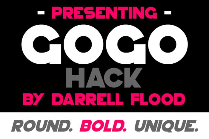 GoGo Hack Font poster