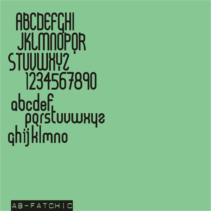 AB FatChic Font poster