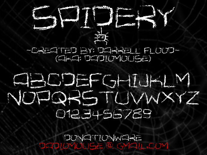 Spidery Font poster