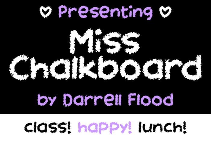 Miss Chalkboard Font poster