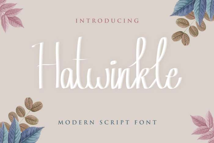 Hatwinkle Font poster