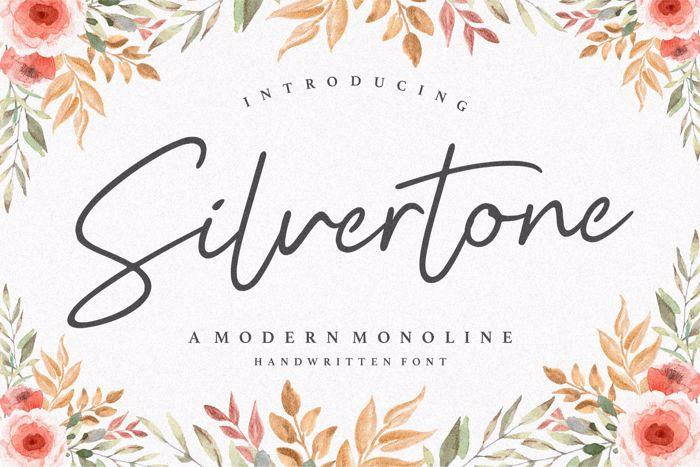 Silvertone Font poster