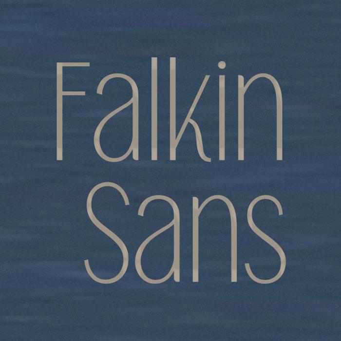 Falkin Sans Font poster