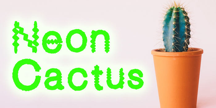 Neon Cactus Font poster