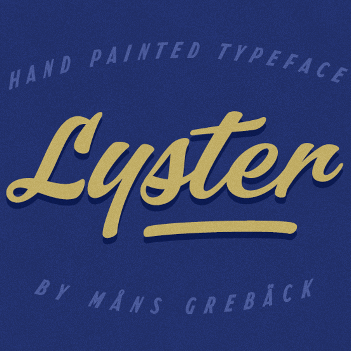 Lyster Font poster