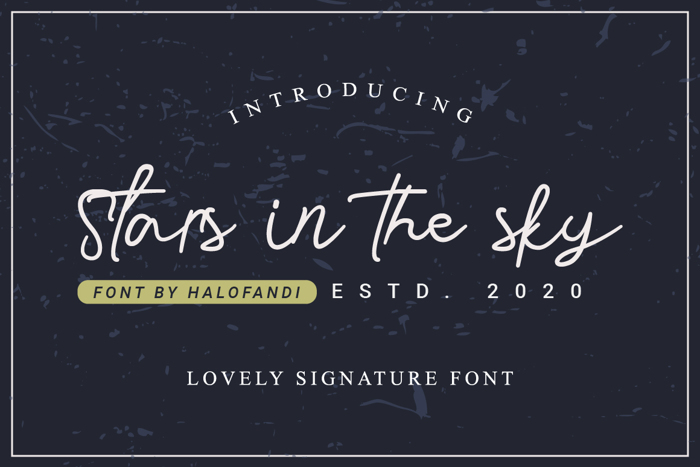 Stars in the sky Font poster