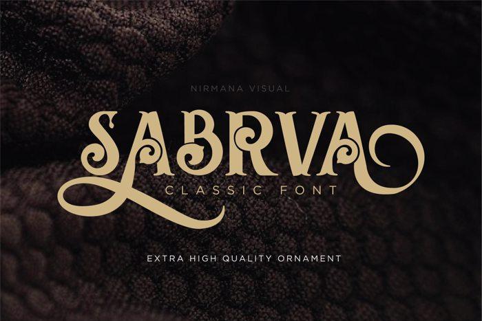 Sabrva Font poster