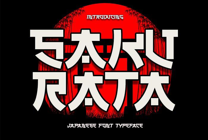 SAKURATA Font poster