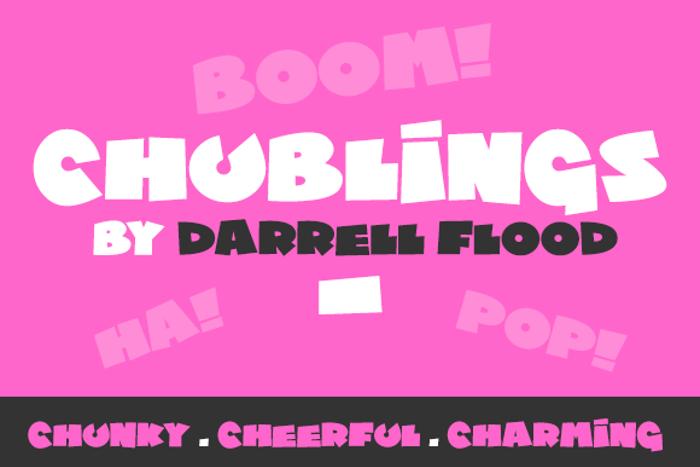 Chublings Font poster