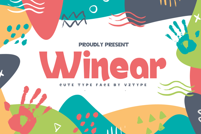 Winear Font poster