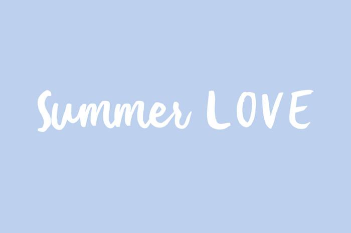 Summer Love Font poster