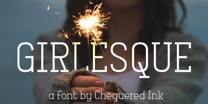 Girlesque Font poster