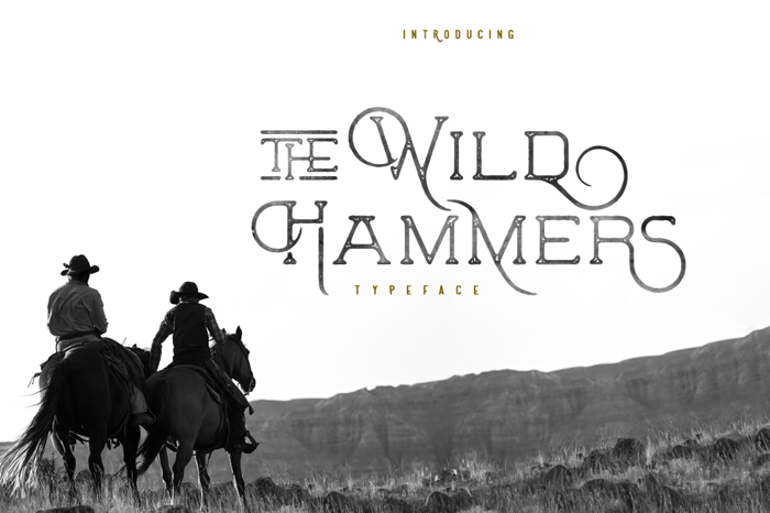 The Wild Hammers Font poster