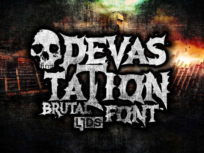 Devastation Font poster