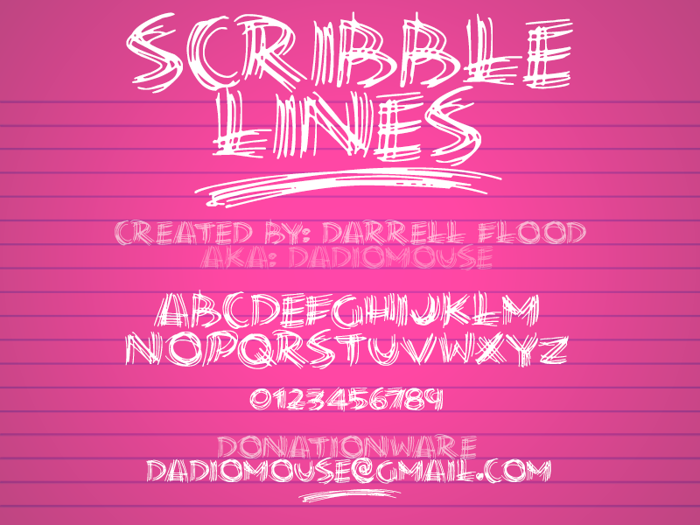 Scribble Lines Font poster