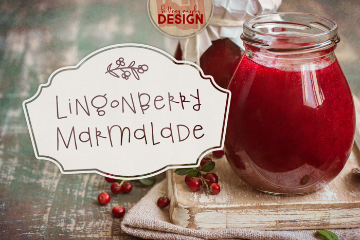 Lingonberry Marmalade Font poster