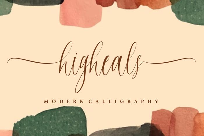 higheals Font poster