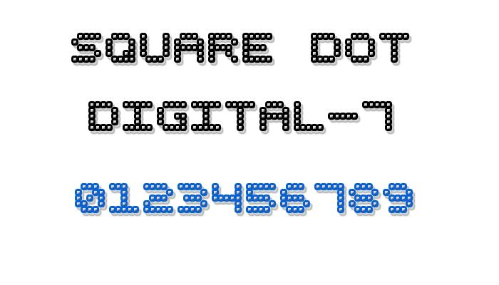 Square Dot Digital-7 Font poster