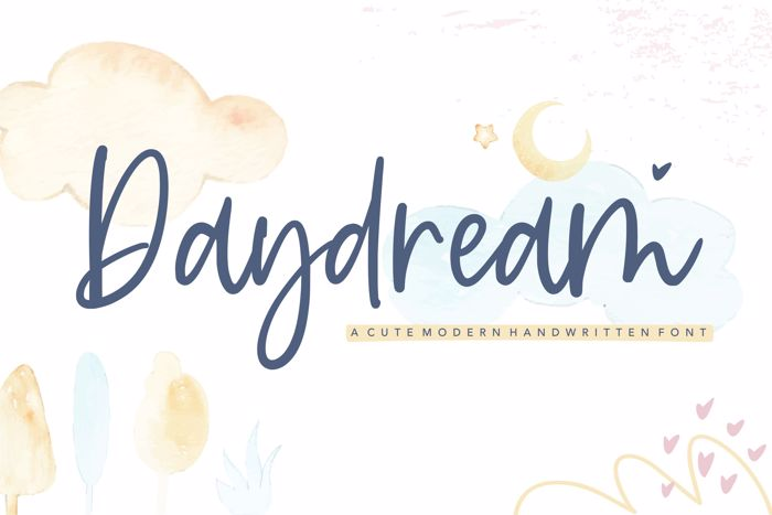 Daydream Font poster