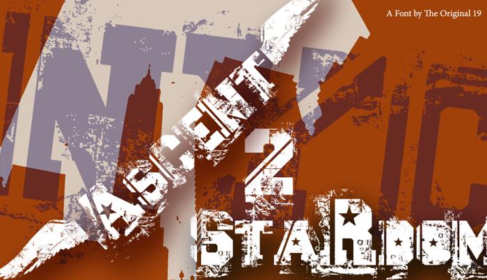 Ascent 2 Stardom Font poster