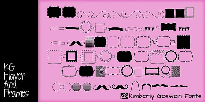 KG Flavor and Frames Font poster