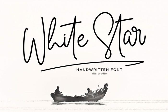 White Star Font poster