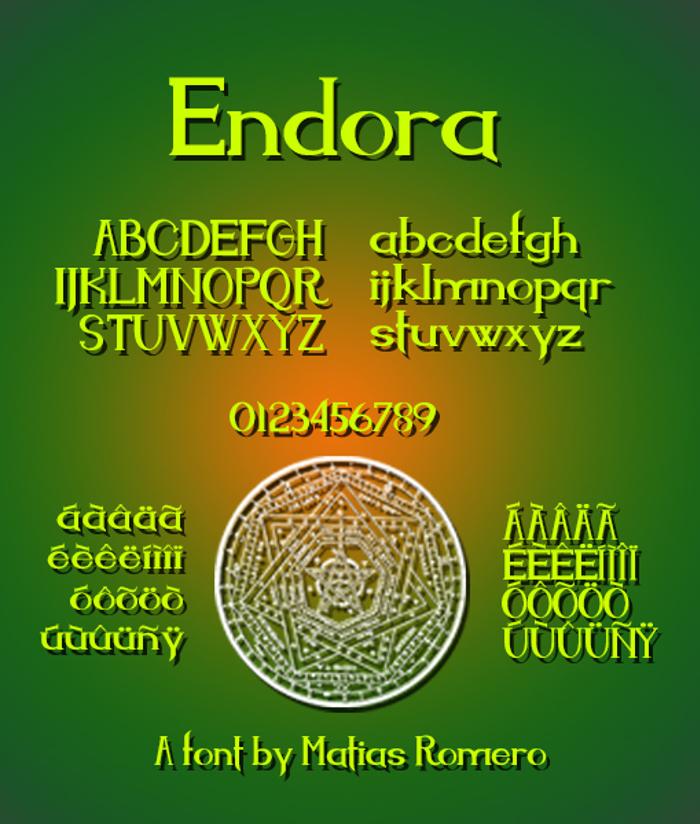 Endora Font poster