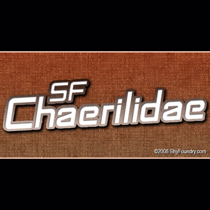 SF Chaerilidae Font poster