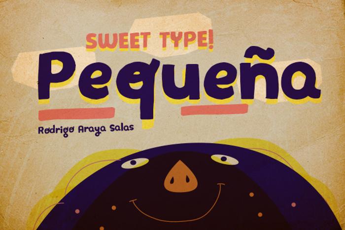 Pequeña  Font poster