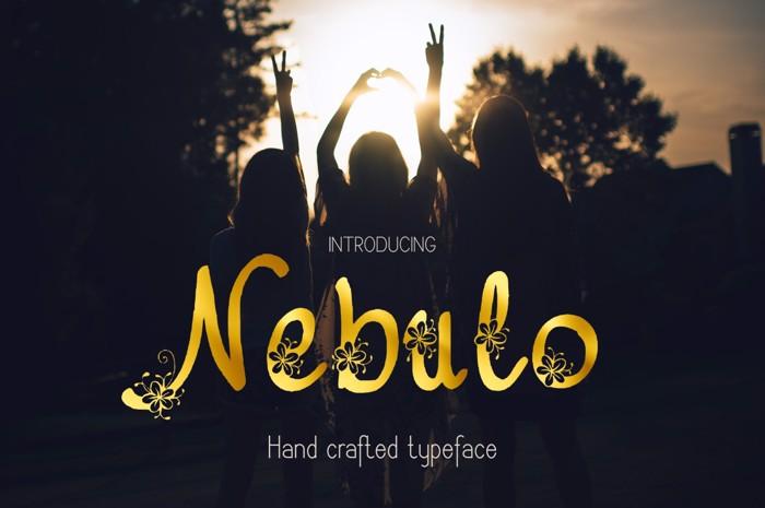 Nebulo Font poster