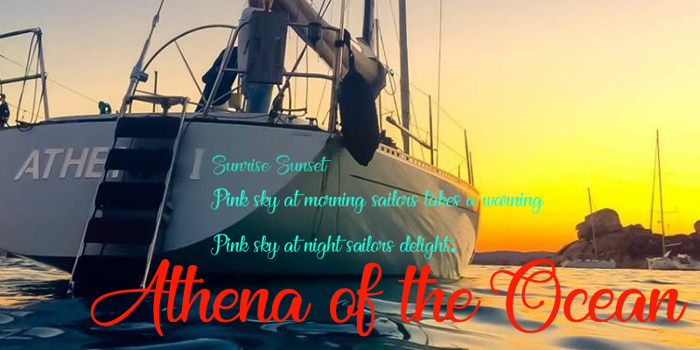 Athena of the Ocean Font poster