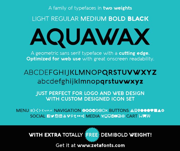 Aquawax Font poster