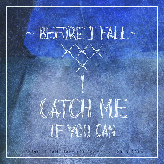 Before I Fall Demo Font poster