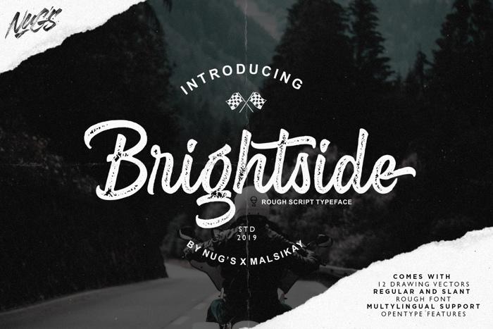 Brightside Font poster