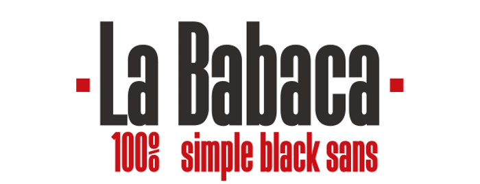 La Babaca Font poster