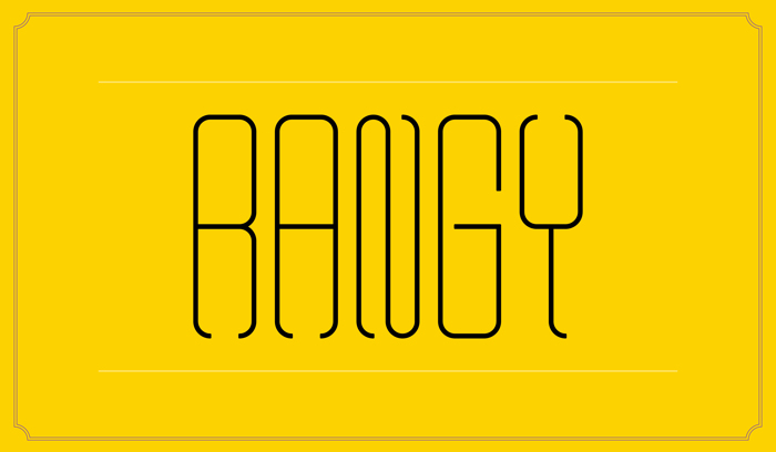 Rangy Font poster