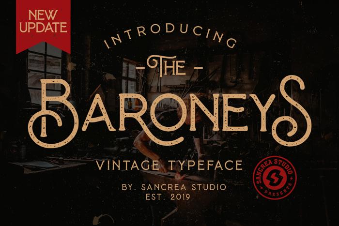Baroneys Font poster