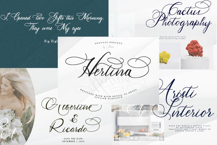 Hertina Font poster