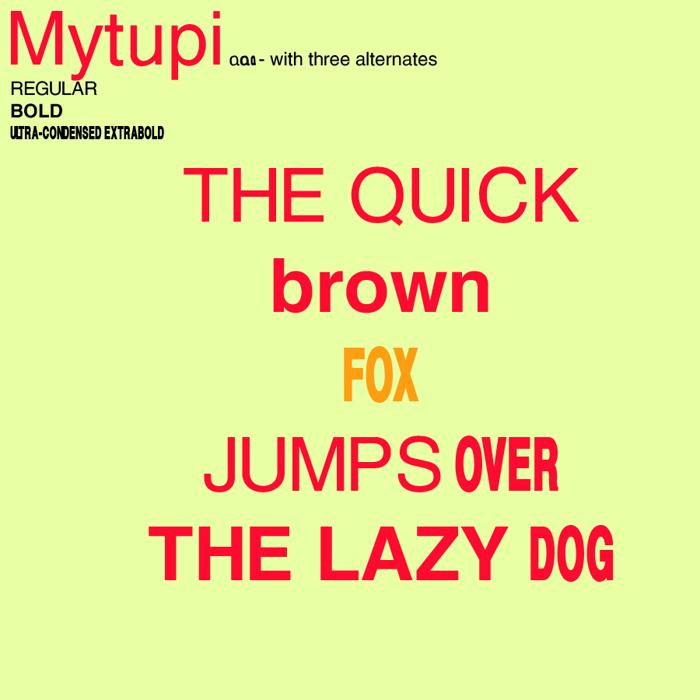 Mytupi Font poster