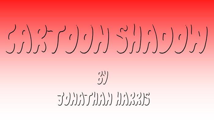 Cartoon Shadow Font poster
