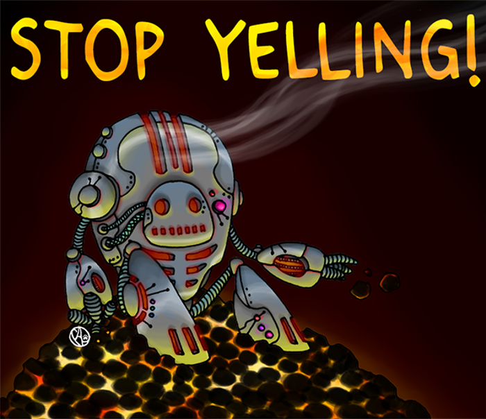 Stop Yelling Font poster