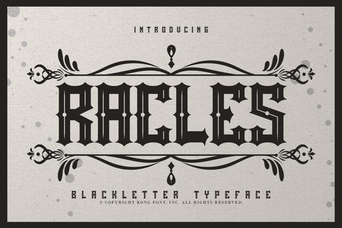 Rackles Font poster