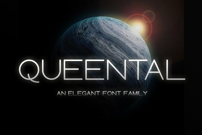 Queental Font poster