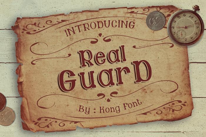 Guard Font poster