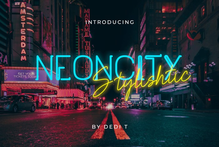 Neoncity Font poster