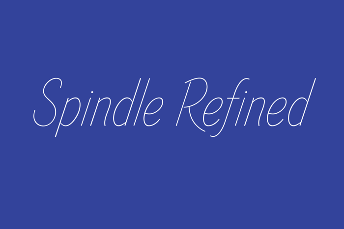 Spindle Refined Font poster