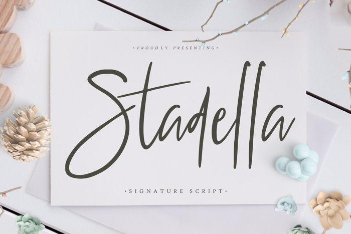Stadella Font poster